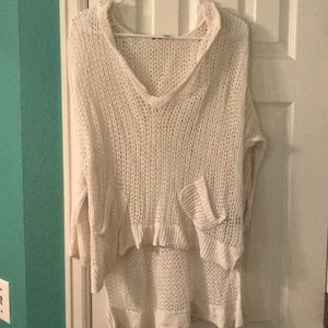 High low crochet swim cover up